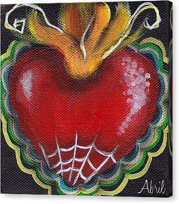 Sagrado Corazon 2 Canvas Print by  Abril Andrade Griffith