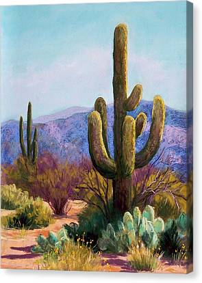 Saguaro Canvas Print by Candy Mayer