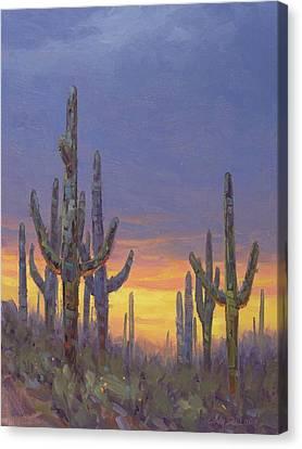 Saguaro Mosaic Canvas Print by Cody DeLong