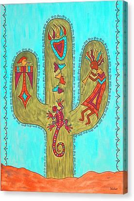 Saguaro Soiree Canvas Print by Susie WEBER