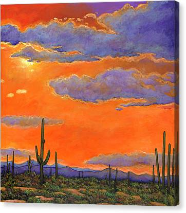 Saguaro Sunset Canvas Print by Johnathan Harris