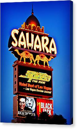 Sahara Sign Canvas Print by James Marvin Phelps