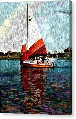 Sail Along On The Sea Canvas Print by Vickie G Buccini