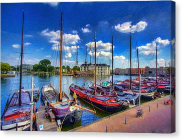 Sail Amsterdam Canvas Print by Nadia Sanowar