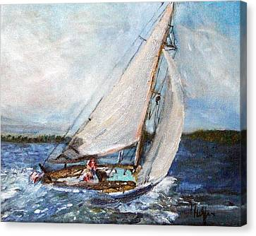 Sail Away Canvas Print by Michael Helfen
