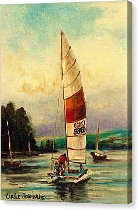 Bluenose Canvas Print - Sail Boats At Sea by Carole Spandau
