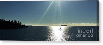 Canvas Print featuring the photograph Sail Free by Victor K