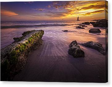 Sail Into The Sunset Canvas Print by Marvin Spates