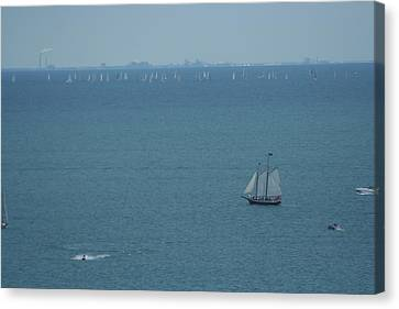 Sail On Michigan Canvas Print by Gregory Jeffries