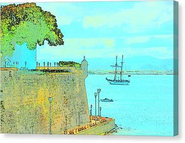 Sail On Canvas Print by Tito Santiago