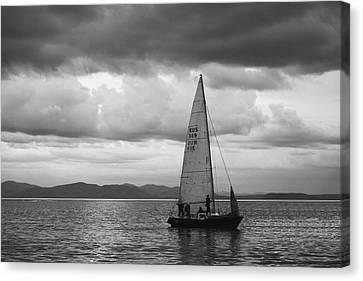 Vladivostok Canvas Print - Sail Under Stormy Clouds by Mariia Kalinichenko