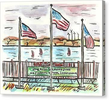 Sailboard Beach Canvas Print by Matt Gaudian