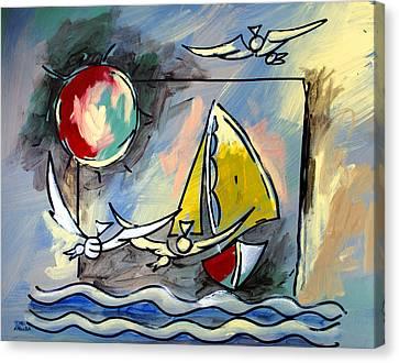Sailboat 2 Canvas Print