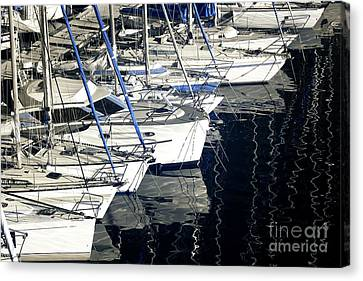 Sailboat Bow Canvas Print by John Rizzuto