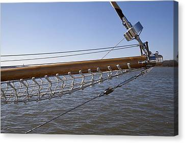 Sailboat Bowsprit Canvas Print by Dustin K Ryan