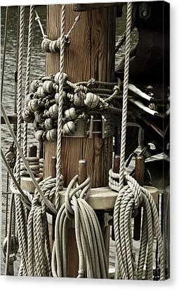 Sailboat Detail 3952 Canvas Print by Frank Tschakert
