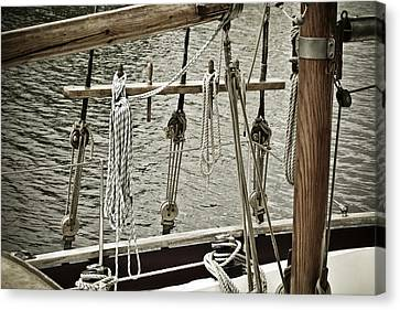Sailboat Detail 3954 Canvas Print by Frank Tschakert