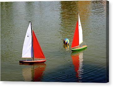 Sailboat Fun Canvas Print by Noel Hankamer