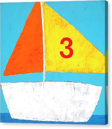 Sailboat Canvas Print by Laurie Breen