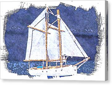Canvas Print featuring the photograph Sailboat by Michael Moriarty
