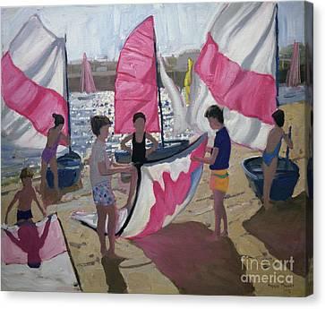 Sailboat Royan France Canvas Print by Andrew Macara