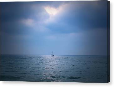 Sailboat Sailing Sail Canvas Print by Shiran Patael