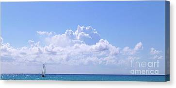 Canvas Print - Sailboat Sea And Sky M5 by Francesca Mackenney