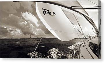 Sailboat Spinnaker Fate Beneteau 49 Charleston Sc  Canvas Print by Dustin K Ryan
