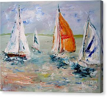 Sailboat Studies 3 Canvas Print