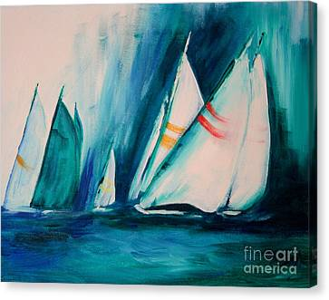 Sailboat Studies Canvas Print by Julie Lueders