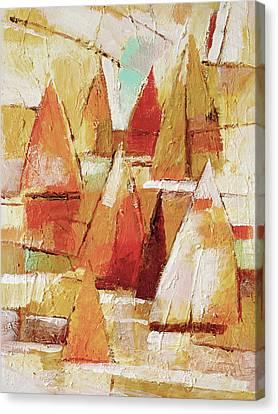 Sailboats Impression Canvas Print