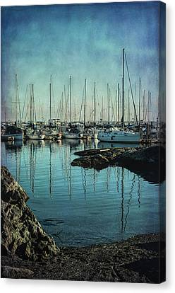 Marina - Digitally Textured Canvas Print by Marilyn Wilson