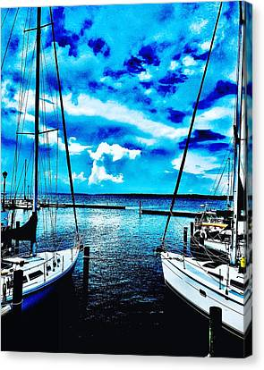 Sailboats Watching Weather Canvas Print