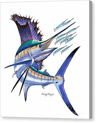 Sailfish Digital Canvas Print by Carey Chen