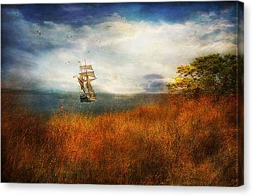Canvas Print featuring the photograph Sailing America by John Rivera