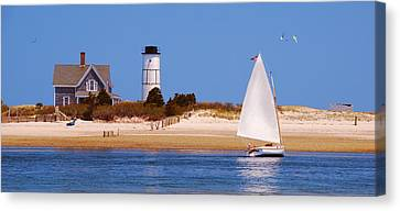 Sailing Around Sandy Neck Lighthouse Canvas Print by Charles Harden