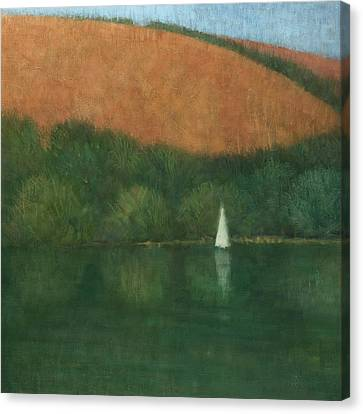 Sailing At Trelissick Canvas Print by Steve Mitchell