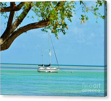 Sailing Away To Key Largo Canvas Print
