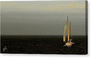 Canvas Print featuring the photograph Sailing by Ben and Raisa Gertsberg