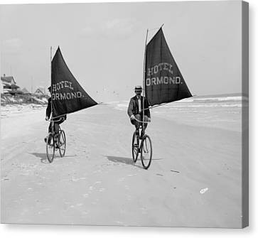 Sailing Bicycles 1903 Canvas Print by Padre Art