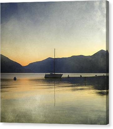 Sailing Boat In The Sunset Canvas Print
