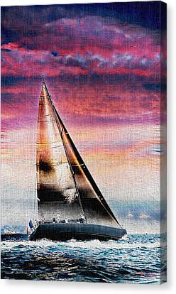 Sailing Boat Nautical 1 Canvas Print by Jean Francois Gil