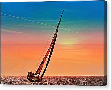 Sailing Boat Nautical 3 Canvas Print