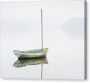 Foggy Day Canvas Print - Sailing Boat - Windermere by Tony Higginson