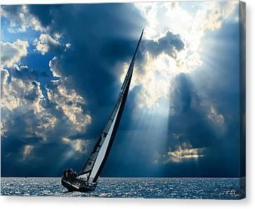 Sailing Boats At Sea , Photography , Canvas Print