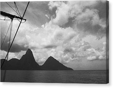 Sailing By The Pitons Canvas Print by Terence Davis
