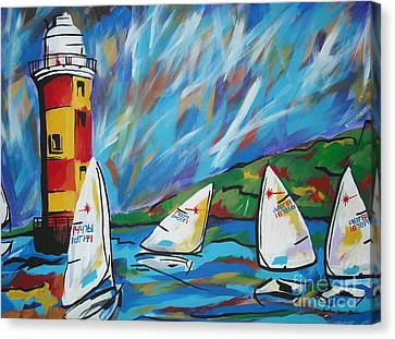 Sailing Canvas Print by Caroline Davis
