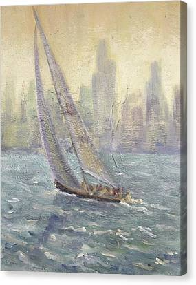 Sailing Chicago Canvas Print