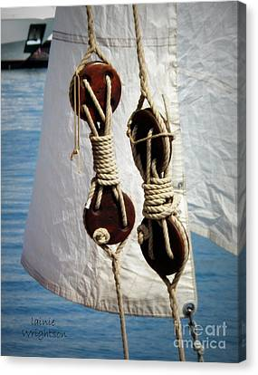 Sailing Dories 2 Canvas Print by Lainie Wrightson