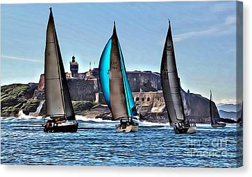 Sailing El Morro  Canvas Print by Carey Chen